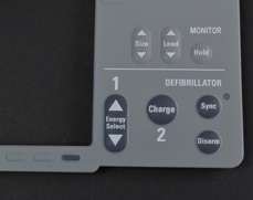 Rubber Keypad with Insert Molded Led Window Over Metal Domes