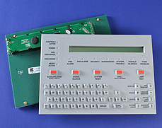 Tactile Silicone Rubber Keypad on PCB with SMT LED's and Integrated Display